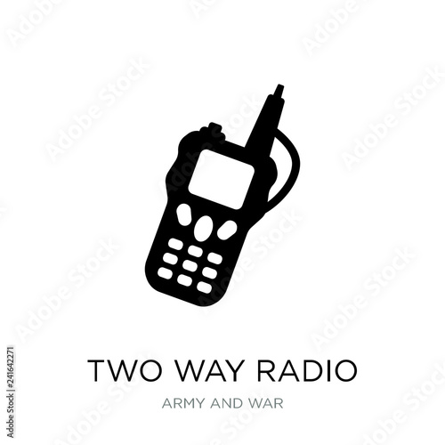 Valokuva  two way radio icon vector on white background, two way radio tre