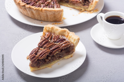 Photo  Autumn american pecan pie