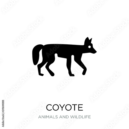 Foto coyote icon vector on white background, coyote trendy filled ico