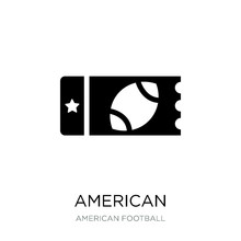 American Football Ticket Icon ...