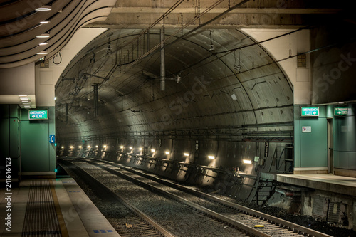 Photo railway station and tunnel