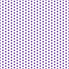 Polka Dots Seamless Pattern - Large Purple Polka Dots On White Background