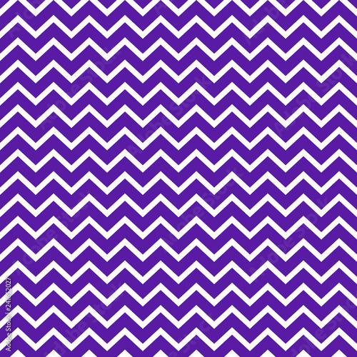 Chevron Seamless Pattern - Bold purple and white chevron or zig zag pattern Canvas Print