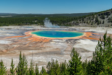 Grand Prismatic Spring. Hot Springs. Yellowstone National Park. Wyoming. USA.