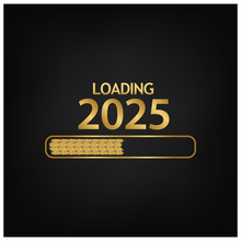 2025 Happy New Year Background For Your Seasonal Flyers, Banner, Sticker, And Greetings Card. 2024 To 2025