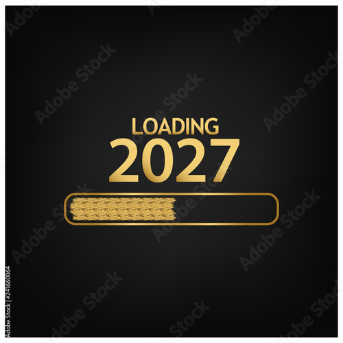 Photo  2027 Happy New Year Background for your Seasonal Flyers, banner, sticker, and Greetings Card
