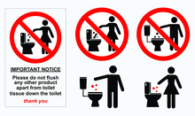 Set Of Sanitary Sign. Easy To ...