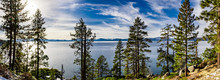 Lake Tahoe Shoreline On A Beautiful Winter Day, Sierra Nevada Mountains