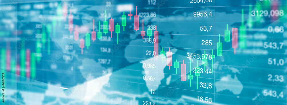 Fototapeta Aktien handel - Finanzmarkt