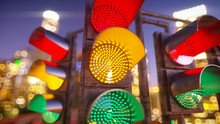 Traffic Light In Modern City. ...