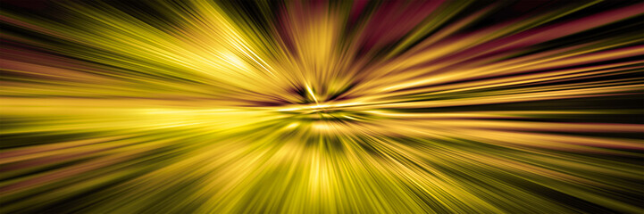 Blurred motion. Hyperspace jump.  Starburst. Concept of  intergalactic travel.