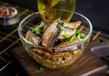 Sprats In A Glass Bowl. Europe...