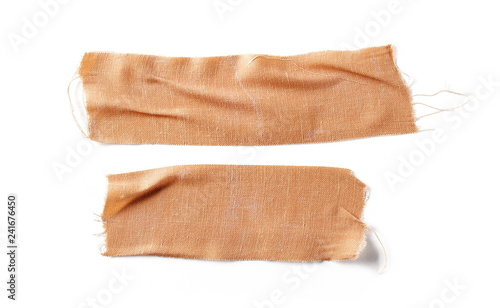 Valokuva Adhesive bandage set and collection isolated on white background, top view