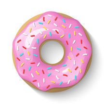 Donut Isolated On A White Back...