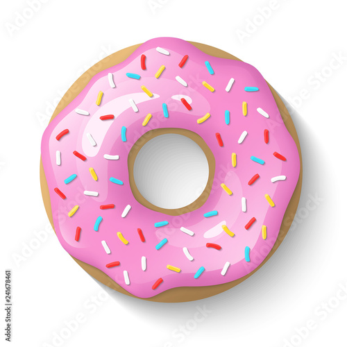 Canvas Print Donut isolated on a white background