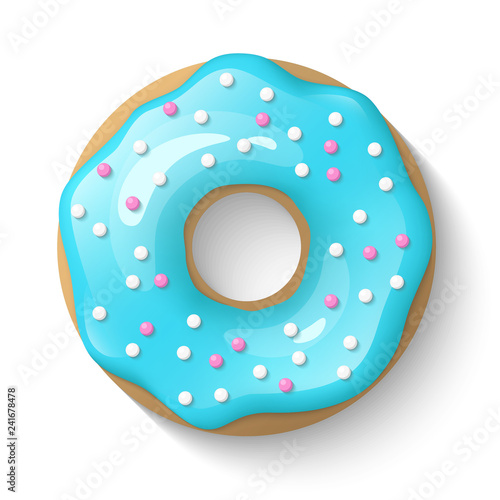фотография Donut isolated on a white background