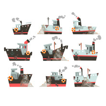 Collection Of Fishing Boats, T...