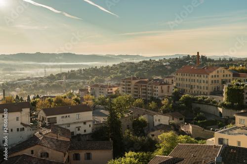 Fotografie, Obraz  Ville de Grasse France Usines Parfums Panoramique