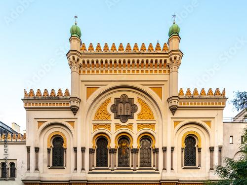 Picturesque facade of Spanish Synagogue in Josefov, Prague, Czech Republic Fototapeta