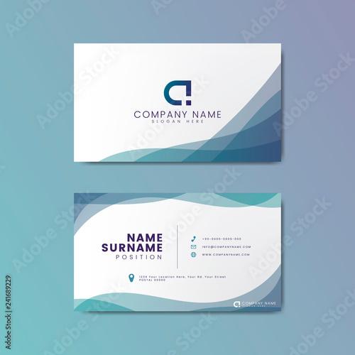 Fotomural  Modern geometric business card design