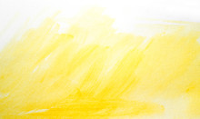 Yellow Watercolor Stain Drawn ...