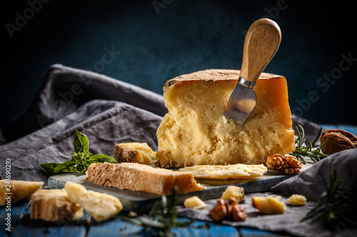 Fotografie, Obraz  Parmesan cheese composition