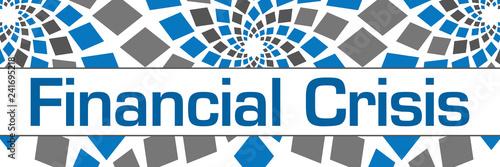 Photo  Financial Crisis Blue Grey Circular Squares Horizontal