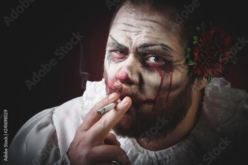 Photo Scary Evil Clown