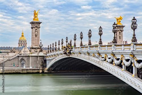 Pont Alexandre III and the Hôtel des Invalides Canvas Print