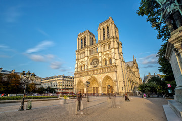 Notre Dame in Paris at Golden Hour