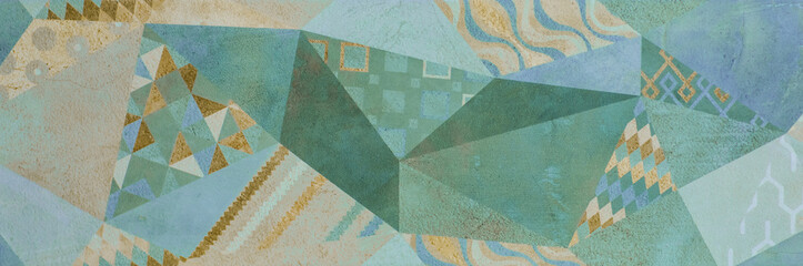 abstract geometric ornamental wallpaper pattern, ethnic arabic, indian, turkish ornament