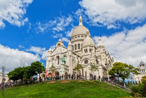 Photo  Sacre Coeur on the Montmartre Hill