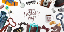 Fathers Day Horizontal Banner