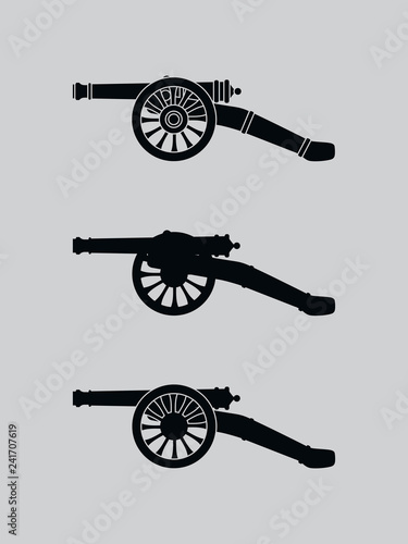 Vector retro cannon Canvas Print