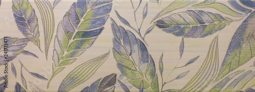 Poster Graphic Prints abstract leaf ornamental pattern for wallpaper