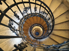 Spiral Staircase In An Old Hou...