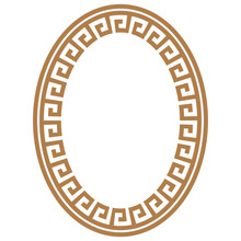 Greek Key Round Frame. Typical...