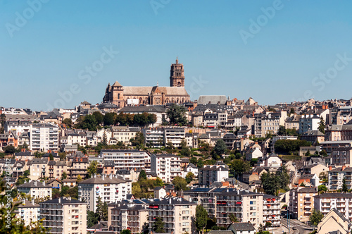 Photo Aerial view of Rodez in France