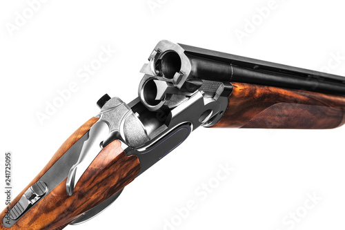 Valokuva Classic hunting rifle isolated on white background