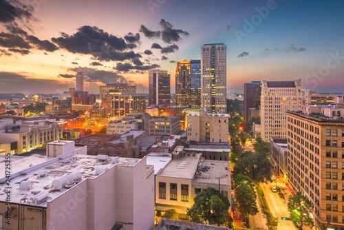 Birmingham, Alabama, USA downtown city skyline Canvas Print
