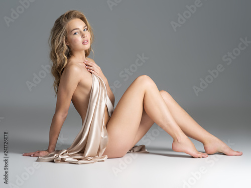 Gorgeous  woman with nude body