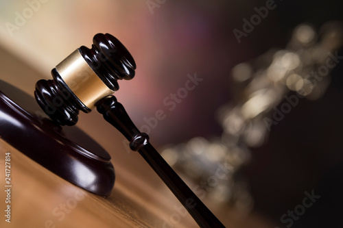 Gavel,Law theme, mallet of judge concept Canvas Print