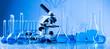 Leinwandbild Motiv Development, Scientific glassware for chemical experiment