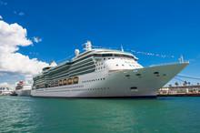 Beautiful Cruise Ship. Mediterranean Sea.