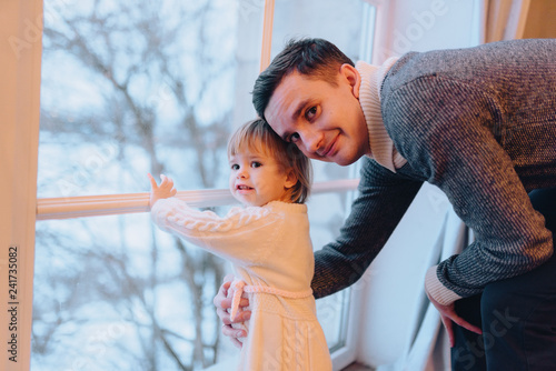 Photo  father play with child