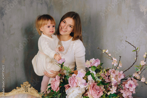 Photo  mother with happy child
