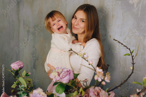 mother with happy child Canvas Print