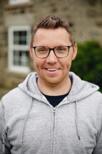 Photographie  Portrait of a Smiling Mid Adult Man