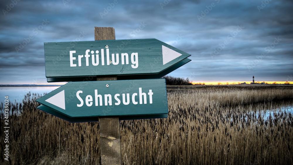 Fototapeta Schild 382 - Erfüllung