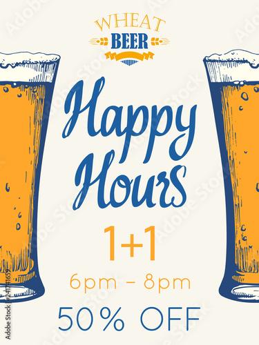 Valokuvatapetti Happy hours poster